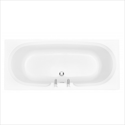 Heritage Bathtubs - Dorchester Double Ended 1800x800 Acrylic Fitted Bath