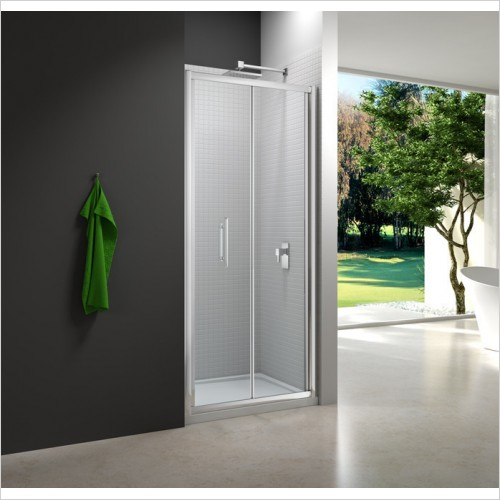 Merlyn Shower Enclosures - 6 Series Bifold Door 1000mm Incl MStone Tray