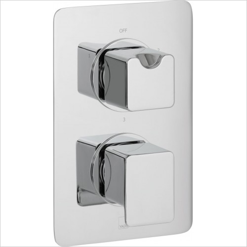 VADO Showers - Photon 3 Outlet 2 Handle Thermostatic Shower Valve