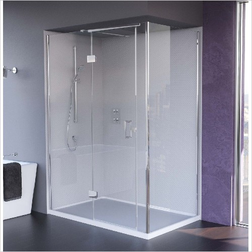 Matki Shower Enclosures - Illusion Corner, Side & Tray 800mm Left Hand GG
