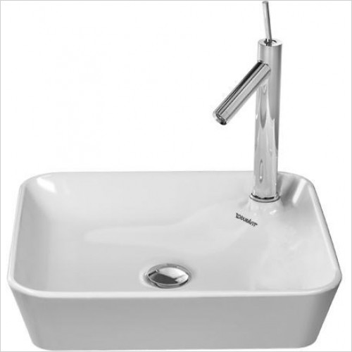 Duravit - Basins - Starck 1 Washbowl Square 460mm With Tap Dome 1TH