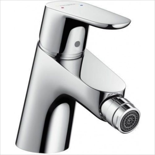 Hansgrohe Taps - Focus E2 Single Lever Bidet Mixer With Push-Open Waste Set