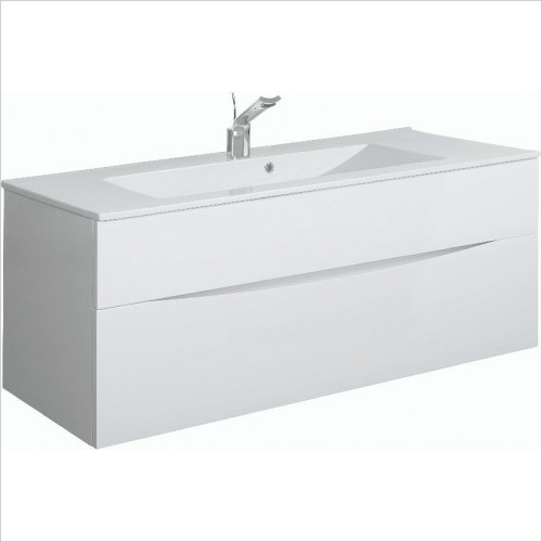 Crosswater Bathroom Furniture - Glide II F Basin Unit 1000mm