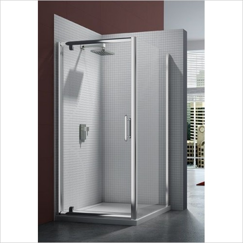 Merlyn Shower Enclosures - 6 Series Pivot Door 1000mm Incl MStone Tray