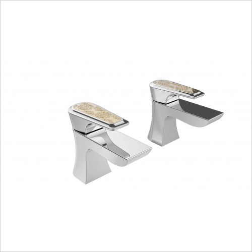 Heritage Taps - Lymington Basin Taps With Gold Inlay