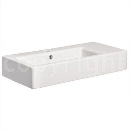 Bauhaus Basins - Air Wall Mounted Basin With Overflow 600mm