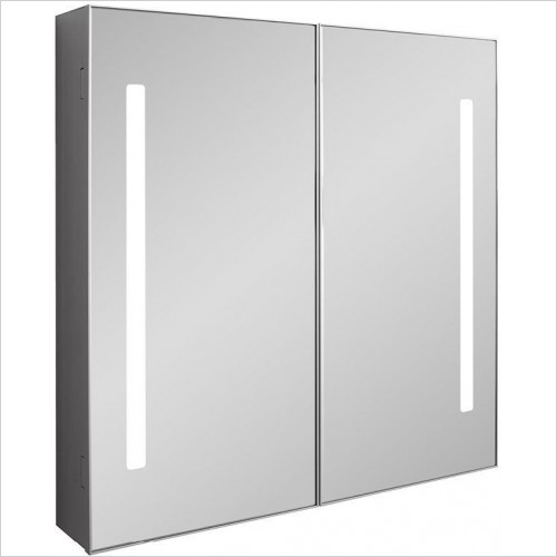 Crosswater Bathroom Furniture - Allure 700mm Mirrored Cabinet LED