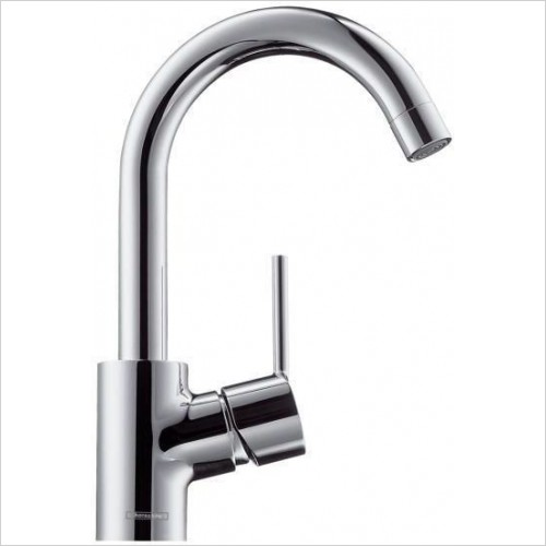 Hansgrohe Taps - Talis S Single Lever Basin Mixer With Swivel Spout - 360