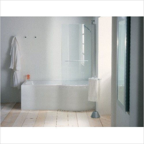Adamsez Optional Extras - Mono L Shaped Mezza Bath Panel 1700x850mm