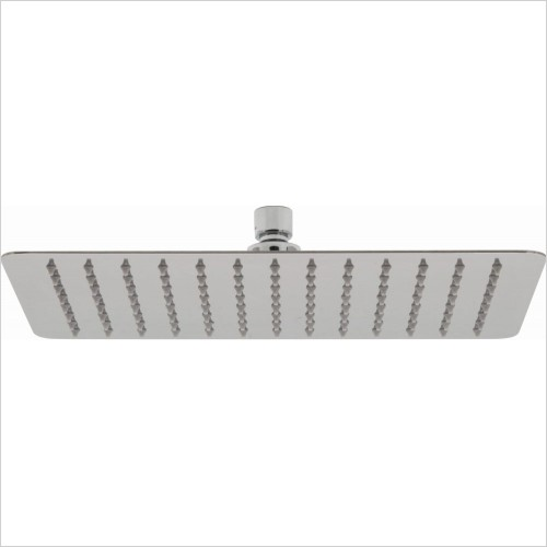 VADO Showers - Aquablade Slimline Rect Shower Head, 300 x 200mm (12 x 8'')