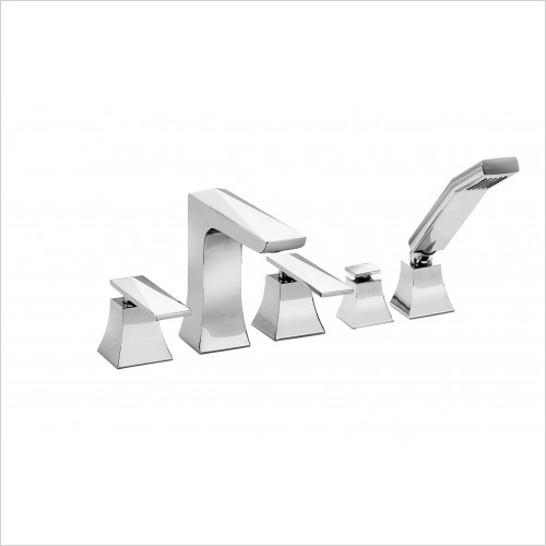Heritage Showers - Hemsby 5 Tap Hole Bath  Shower Mixer
