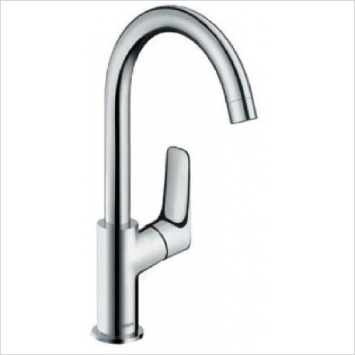 Logis Single Lever Basin Mixer 210 - Swivel Spout