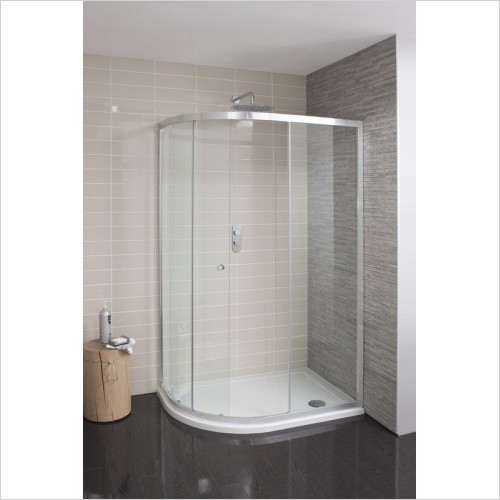 Crosswater Shower Enclosures - Edge Quadrant Single Door 800mm