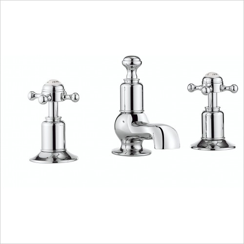 Crosswater Showers - Belgravia Crosshead Basin Mixer 3TH