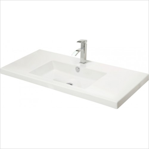 Miller Optional Accessories - London/New York Basin Rectangular For 598/298 Vanity 100cm