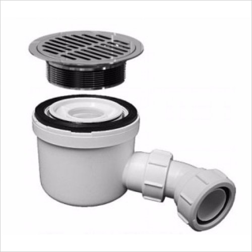 Matki Showers - Fast Flow Waste with Square Stainless Steel Grill