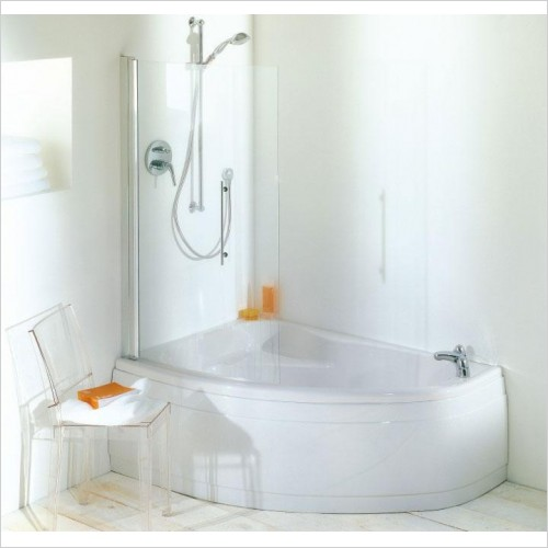 Adamsez Optional Extras - Arc Curved Shower Screen 844x1402mm