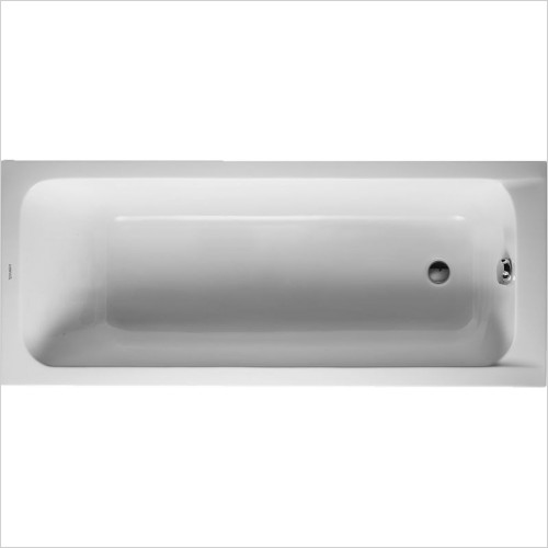 Duravit Baths - D-Code Bathtub 1700x700mm Outlet In Foot Area Incl Feet