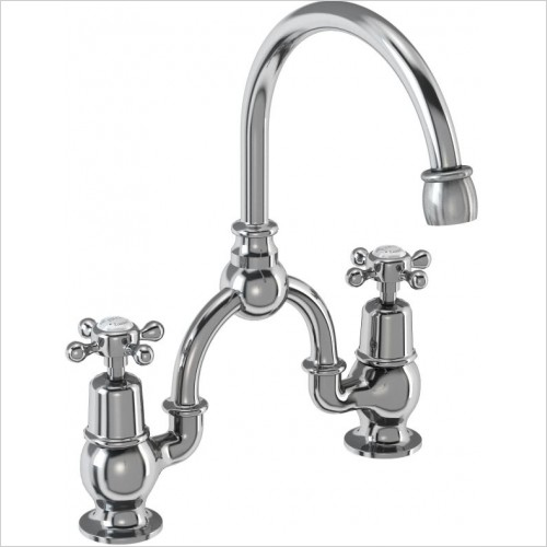 Burlington Taps - Claremont Bridge Basin Mixer With Curved Spout