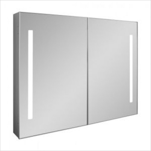 Crosswater Bathroom Furniture - Allure 900mm Mirrored Cabinet LED