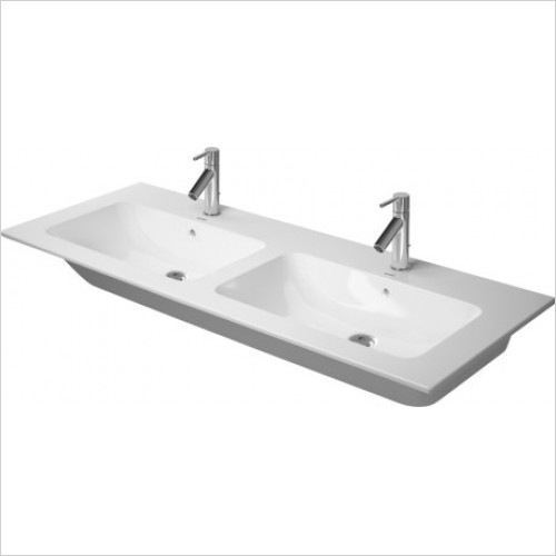 Duravit - Basins - Me By Starck Double Washbasin Vital 1300, With Overflow, 1TH