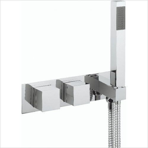 Crosswater Showers - Water Square Thermo Shower Valve 2 Control (Landscape)