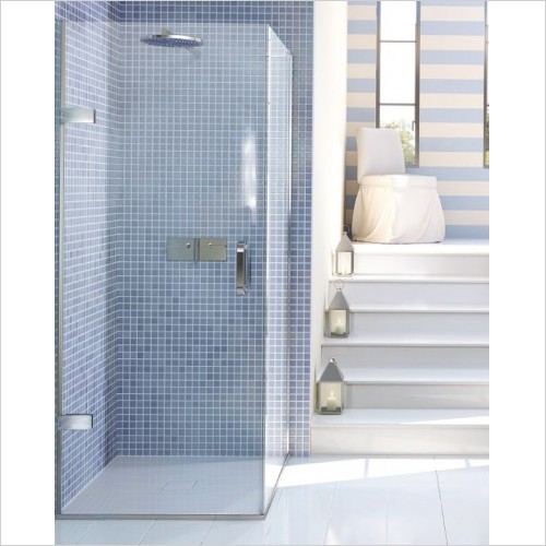 Matki Shower Enclosures - Hinged Door EPC Side Panel 700mm