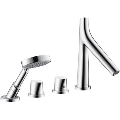 Axor Taps - Starck Organic 4-Hole Rim-Mounted Thermostatic Bath Mixer