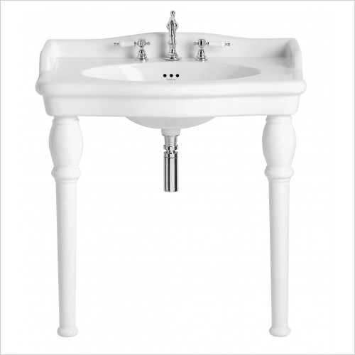 Heritage Basins - Victoria Single Console Basin 3TH