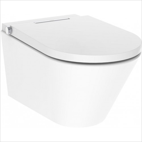 Crosswater Toilets - Axent One Plus Wall Hung Bidet Toilet Rimless