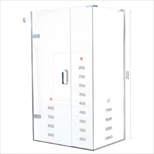 Matki Shower Enclosures - Hinged Door EPWC Side Panel 700mm