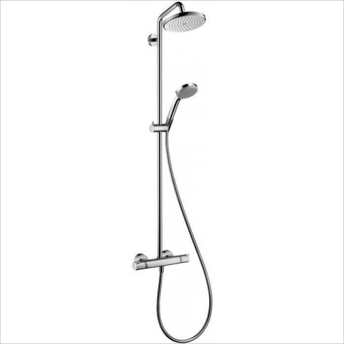 Hansgrohe Showers - Croma 220 EcoSmart Bathroom Shower pipe & Swivelling Shower