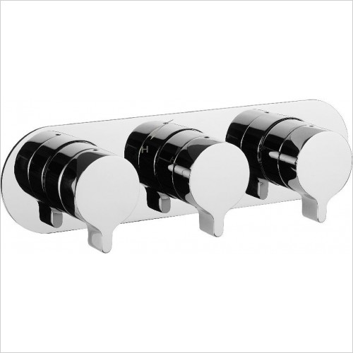 Crosswater Showers - Svelte Thermo Shower Valve 3 Control (Landscape)