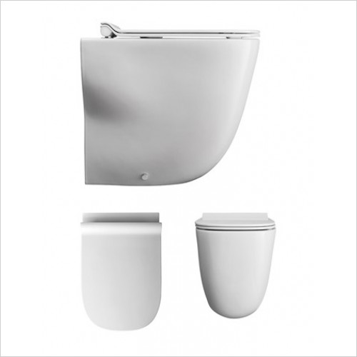 Bauhaus Toilets - Wild Back To Wall WC Rimless
