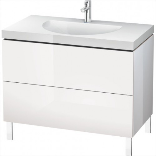 Duravit Furniture - L Cube Vanity Unit C-Bonded Freestanding, 1000, 2 Drawer, O