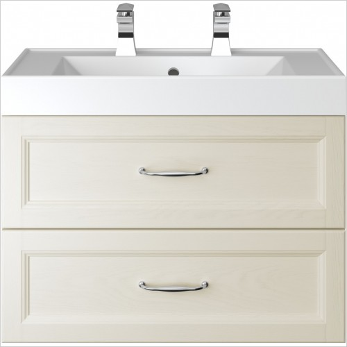 Heritage Furniture - Caversham Wall Hung Vanity Unit 2 Drawer