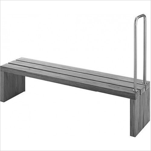 Duravit Optional Extras - Blue Moon Bench/Support Rail With Handhold 1400x1400mm