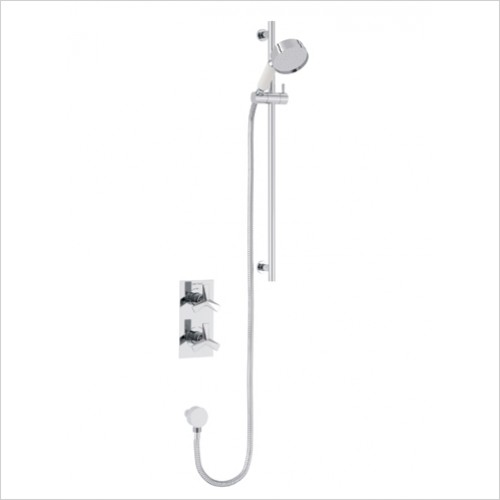 Heritage Showers - Hemsby Dual Control Recessed Valve With Adjustable Riser
