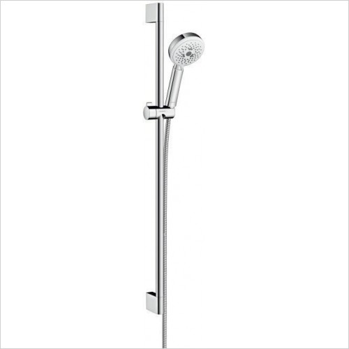 Hansgrohe Showers - Crometta 100 Multi Unica Set Head and Rail 90cm
