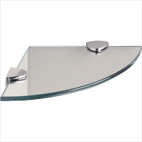 Miller Accessories - Classic Round Corner Shelf With Chrome Brackets