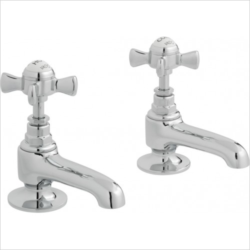 VADO Taps - Wentworth Basin Pillar Taps Deck Mounted With Long Spouts