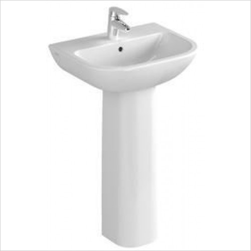 Vitra Basins - S20 Cloakroom Washbasin 50cm 2TH