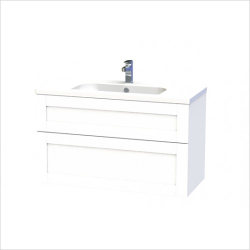 London Vanity Unit 100cm With 2 Drawers