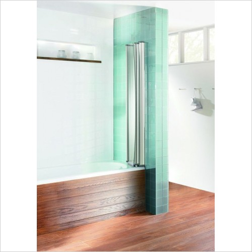 Simpsons Shower Enclosures - Edge Foldaway Bath Screen