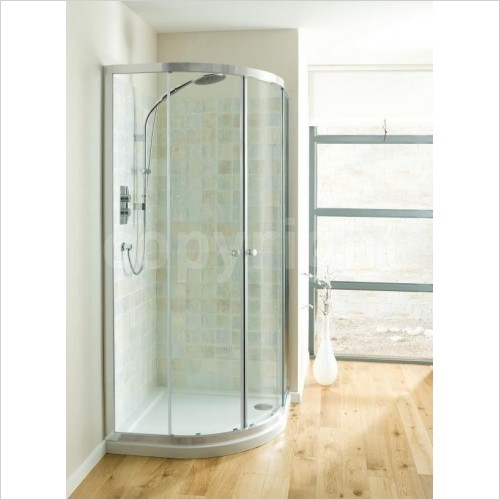 Crosswater Shower Enclosures - Edge Quadrant Double Door 800mm