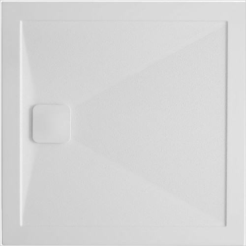 Simpsons Showers - Square Anti-Slip 25mm Shower Tray 800