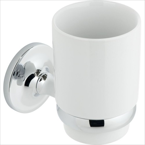 VADO Accessories - Tournament Ceramic Tumbler & Holder Wall mounted
