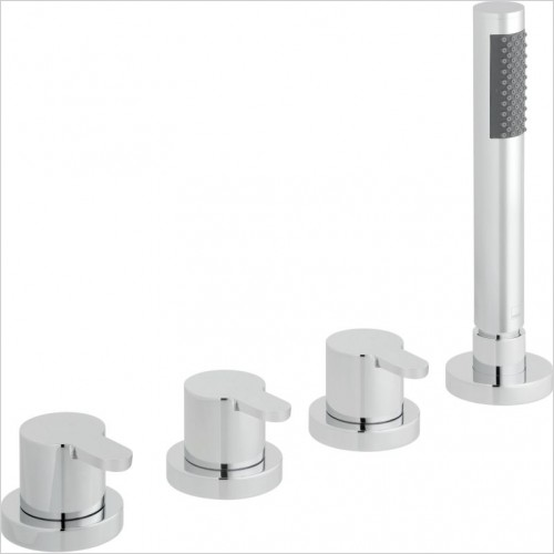 VADO Showers - Sense 4 Hole Bath Shower Mixer Deck mounted