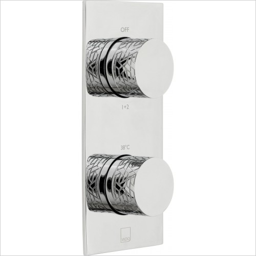 VADO Showers - Omika 2 Outlet 2 Handle Vertical Tablet Thermostatic Valve