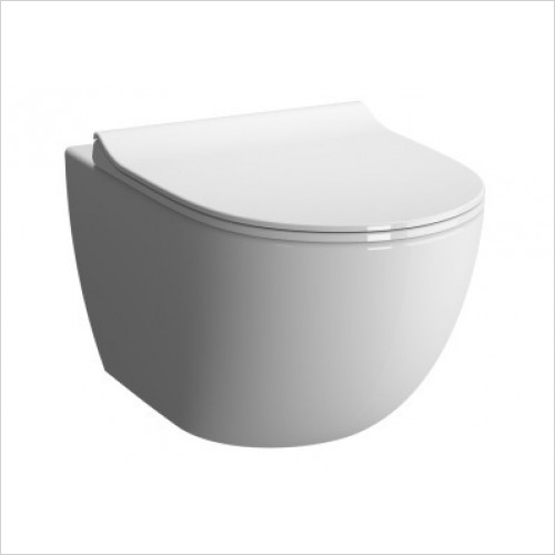 Vitra Toilets - Options Sento Rimless Compact Wall Hung WC Pan